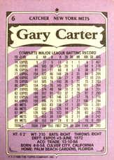 1990 Kay-Bee #6 Gary Carter