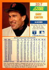 1990 Score Rookie/Traded #35T Gary Carter