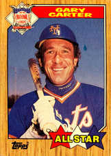 1987 Topps #602 Gary Carter AS
