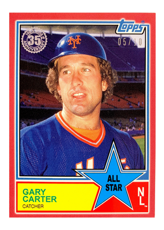 2018 Topps On Demand Mini 83 All Stars Red  #83AS73 Gary Carter/10