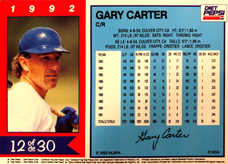 1992 Pepsi Diet MSA #12 Gary Carter