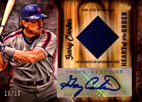 2015 Topps Heart of the Order Autograph Relics #HOARGC Gary Carter/10