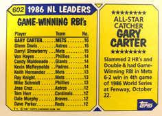 1987 Topps Tiffany #602 Gary Carter AS