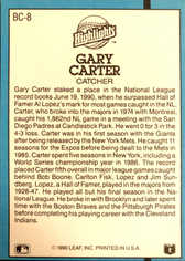 1991 Donruss Bonus Cards #BC8 Gary Carter