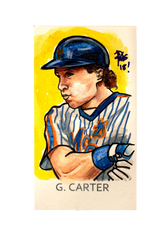 2018 Topps Allen & Ginter Mini Artist Originals #AOGC Gary Carter 1/1