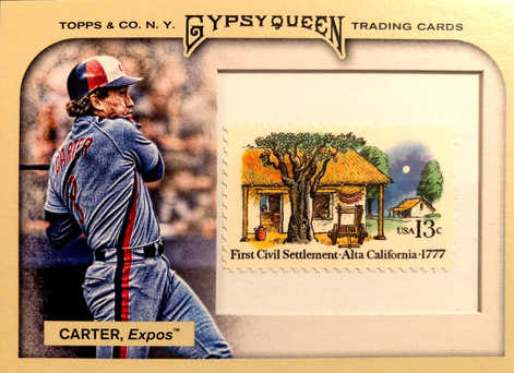 2011 Topps Gypsy Queen Framed Stamp #68 Gary Carter/10