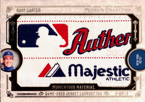 2015 Topps Museum Collection Momentous Material Laundry Tags #MMLTGC Gary Carter 1/1