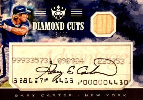 2018 Diamond Kings Diamond Material Cuts Signatures #3 Gary Carter/49
