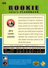 2001 Upper Deck Decade 1970's #100 Gary Carter RF