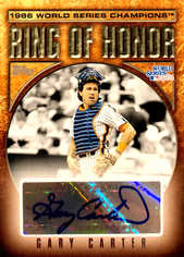2008 Topps Update Ring of Honor 1986 New York Mets Autographs #GC Gary Carter