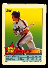 1989 Topps/O-Pee-Chee Sticker Backs #55 Gary Carter