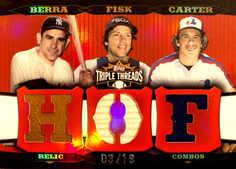 2006 Topps Triple Threads Relic Combos #139 Yogi Berra/Carlton Fisk/Gary Carter/18