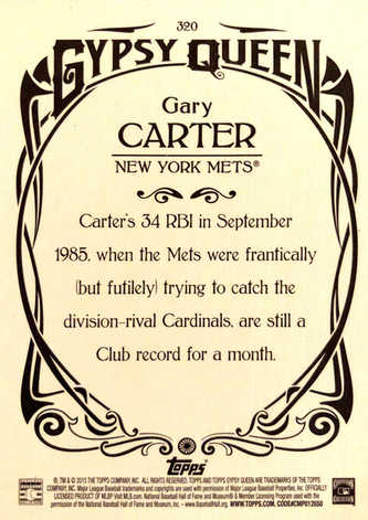 2015 Topps Gypsy Queen #320 Gary Carter SP