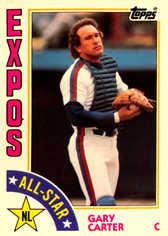 1984 Topps Tiffany #393 Gary Carter AS