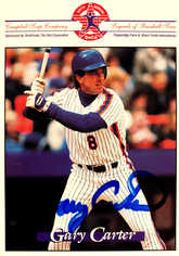 1998 Campbell's Soup Legends of Baseball Tour #10 Autographed Gary Carter