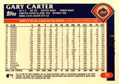2003 Topps Retired Signature Black #73 Gary Carter