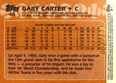 2005 Topps All-Time Fan Favorites Refractors #48 Gary Carter/299