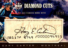 2018 Diamond Kings Diamond Cuts Signatures #2 Gary Carter/25