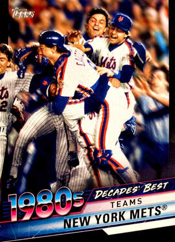 2020 Topps Decades' Best Series 2 Black #DB55 New York Mets/299