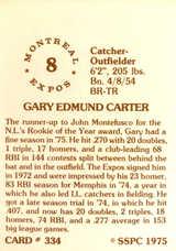 1976 SSPC #334 Gary Carter