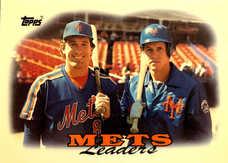 1988 Topps Tiffany #579 Mets Team Leaders/Gary Carter/Kevin McReynolds