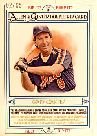 2013 Topps Allen and Ginter Double Rip Cards #RC185 Dwight Gooden/Gary Carter/5