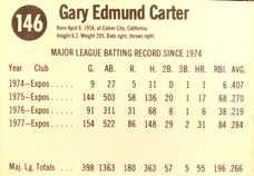 1978 Hostess #146 Gary Carter