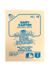 1985 Fleer Star Stickers #16 Gary Carter
