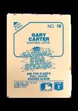 1985 Fleer Star Stickers #16 Gary Carter