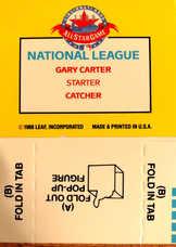 1989 Donruss Pop-Ups #41 Gary Carter