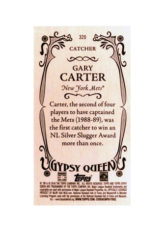 2016 Topps Gypsy Queen Mini #320 Gary Carter SP