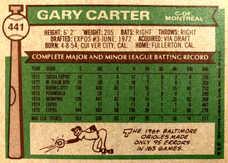 1976 Topps #441 Gary Carter