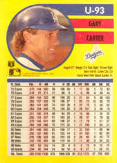 1991 Fleer Update #93 Gary Carter