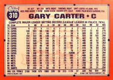 1991 Topps Tiffany #310 Gary Carter