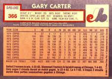 1984 O-Pee-Chee #366 Gary Carter