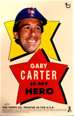 "2014 Topps Wall Art ""My Hero"" 5X7 Print Gary Carter/99"