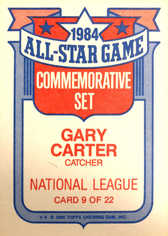 1985 Topps Glossy All-Stars #9 Gary Carter