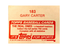 1984 Topps Stickers #183 Gary Carter FOIL