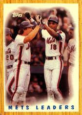 1987 Topps #331 Mets Team Leaders/Carter/Strawberry