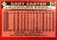 1986 O-Pee-Chee #170 Gary Carter
