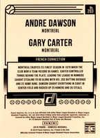 2018 Donruss #203 Andre Dawson/Gary Carter