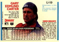 1992 Donruss Update #U19 Gary Carter
