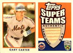 2002 Topps Super Teams Relics #STRGCB Gary Carter Bat/100