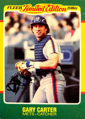 1986 Fleer Limited Edition #10 Gary Carter