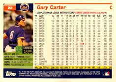 2005 Topps Retired Signature #22 Gary Carter