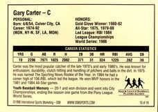 1998 Campbell's Soup Legends of Baseball Tour #10 Autographed Gary Carter