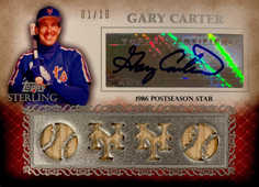 2009 Topps Sterling Career Chronicles Relic Quad Autographs #115 Gary Carter/10