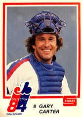 1984 Expos Stuart #15 Gary Carter