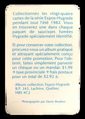 1982 Expos Hygrade Meats #3 Gary Carter