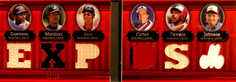 2007 Topps Triple Threads Relics Combos Double #23 Vladimir Guerrero/Pedro Martinez/Moises Alou/Gary Carter/Andre Dawson/Randy Johnson/36